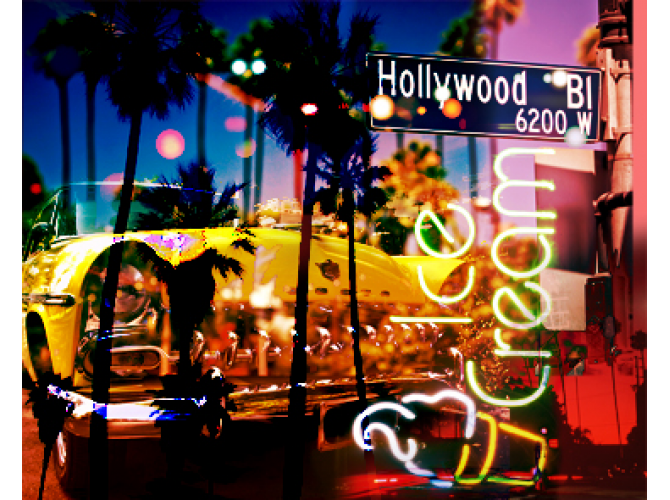 Neon Hollywood Blvd the artwork factory