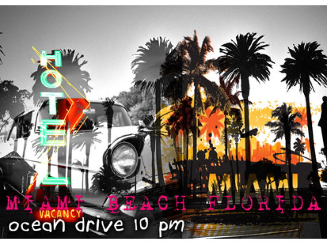 Ocean Drive, 10 PM the artwork factory