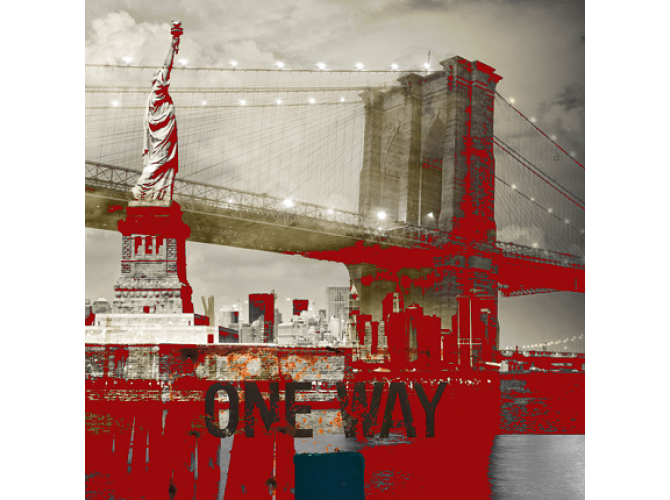 One Way to Liberty in Red the artwork factory