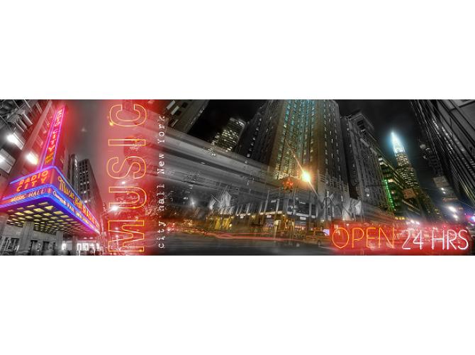 NYC Night Lights the artwork factory