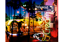 Neon Hollywood Blvd