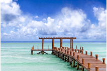 Beautiful Caribbean Sea Pier - Playa Del Carmen