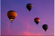 Hot Air Balloons Floating over Egypt