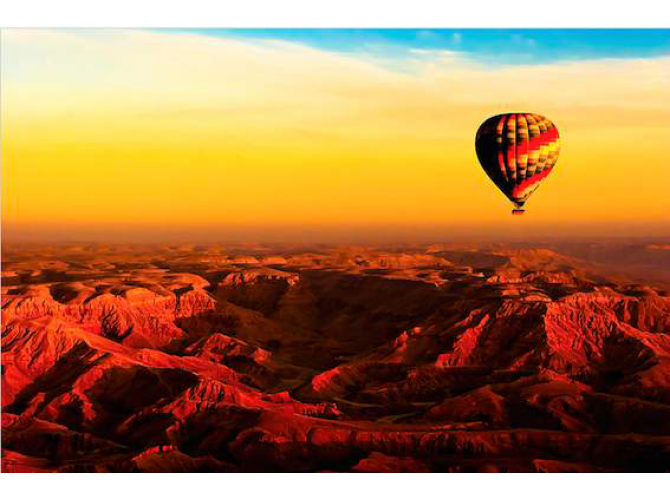 Hot Air Balloon Over Egyptian Valley of The Kings the artwork factory