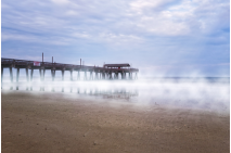 Misty Waters Around Tybee Island Pier