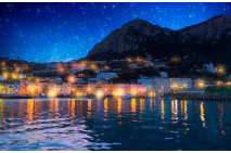 Night Falls on Beautiful Capri-Italy