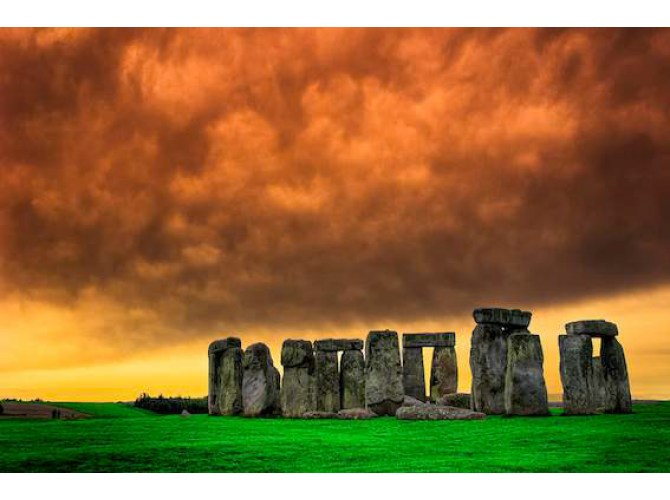 Stonehenge Standing Proud on The Salisbury Plains the artwork factory