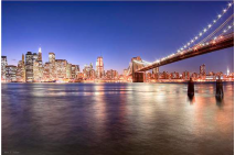 The City Lights of Manhattan - Brooklyn Bridge