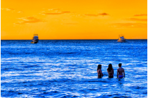 Women of the Blue Sea - Costa Rica Seascape