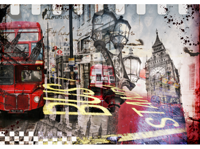 London Bus Stand  the artwork factory