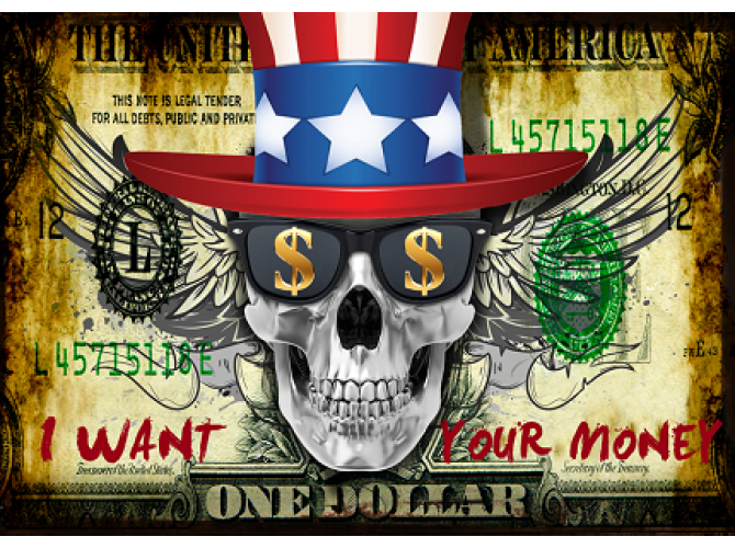 Money, Skull edition  the artwork factory