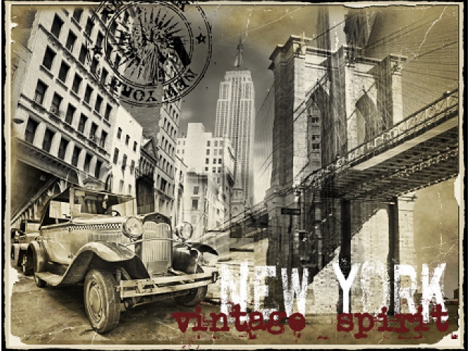 Vintage NYC Spirit  the artwork factory