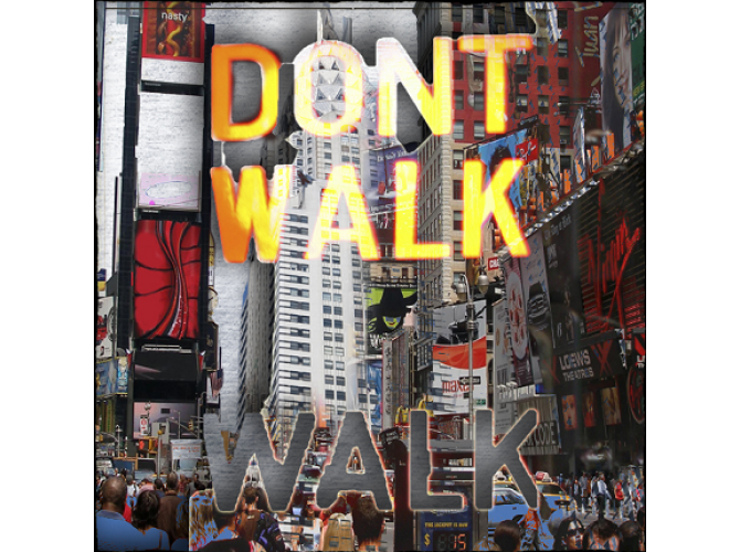 Don't Walk, NYC Stride 2  the artwork factory